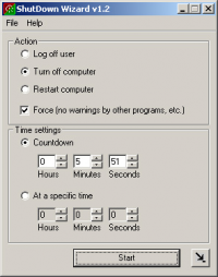 ShutDown Timer Wizard